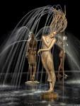 Springbrunnen mit dem Titel Primavera III von Malgorzata Chodakowska