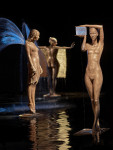 Springbrunnen mit dem Titel Frau mit Eis von Malgorzata Chodakowska